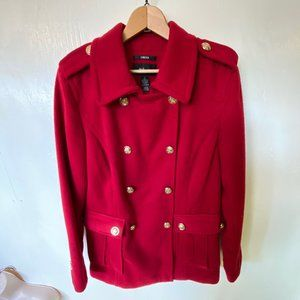 Red Military Style Coat - with Stretch!